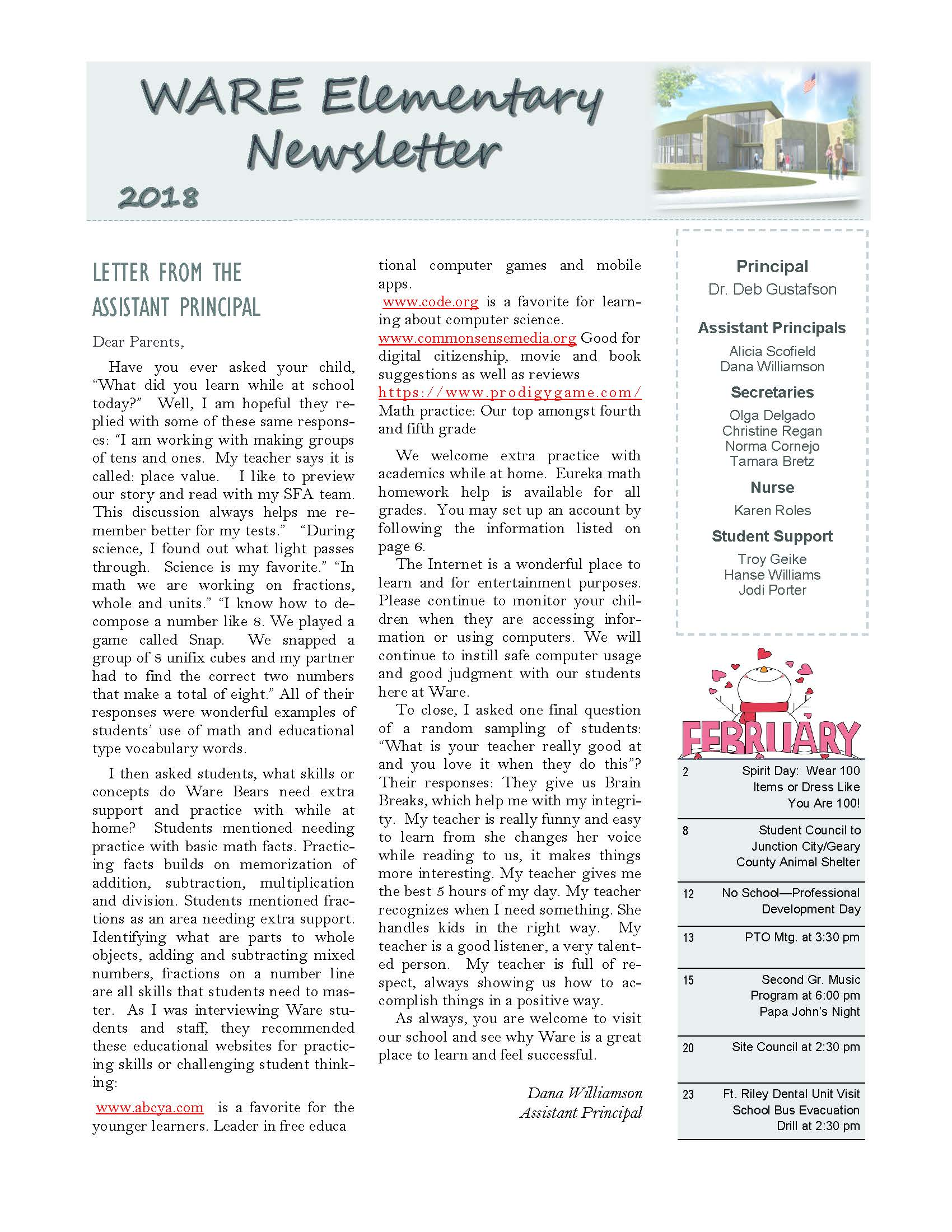 February eNewsletter Page 1