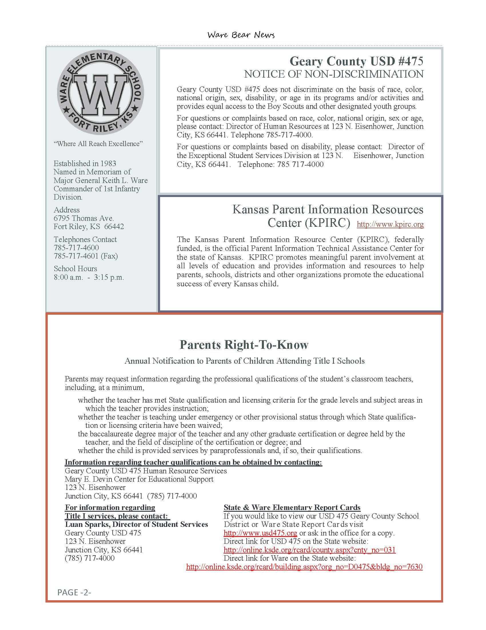 February eNewsletter Page 2
