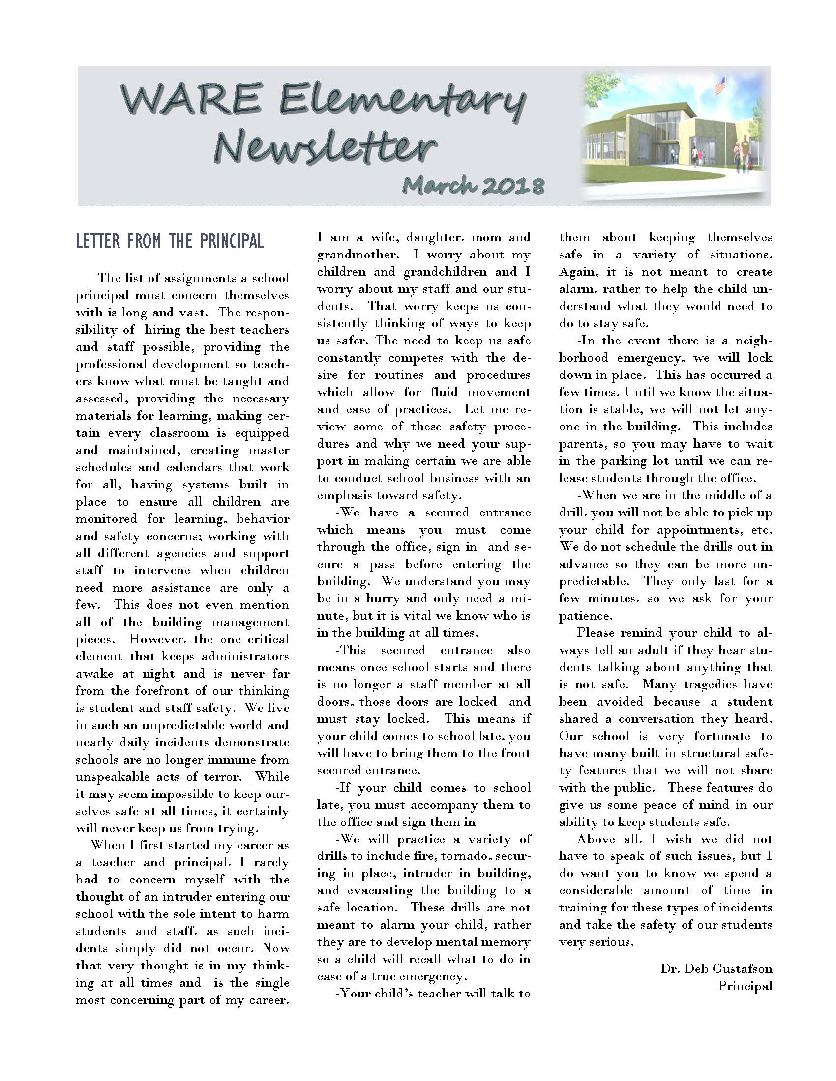 March eNewsletter Page 1