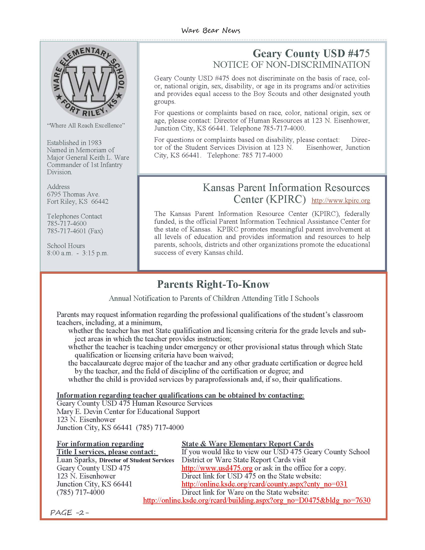 March eNewsletter Page 2