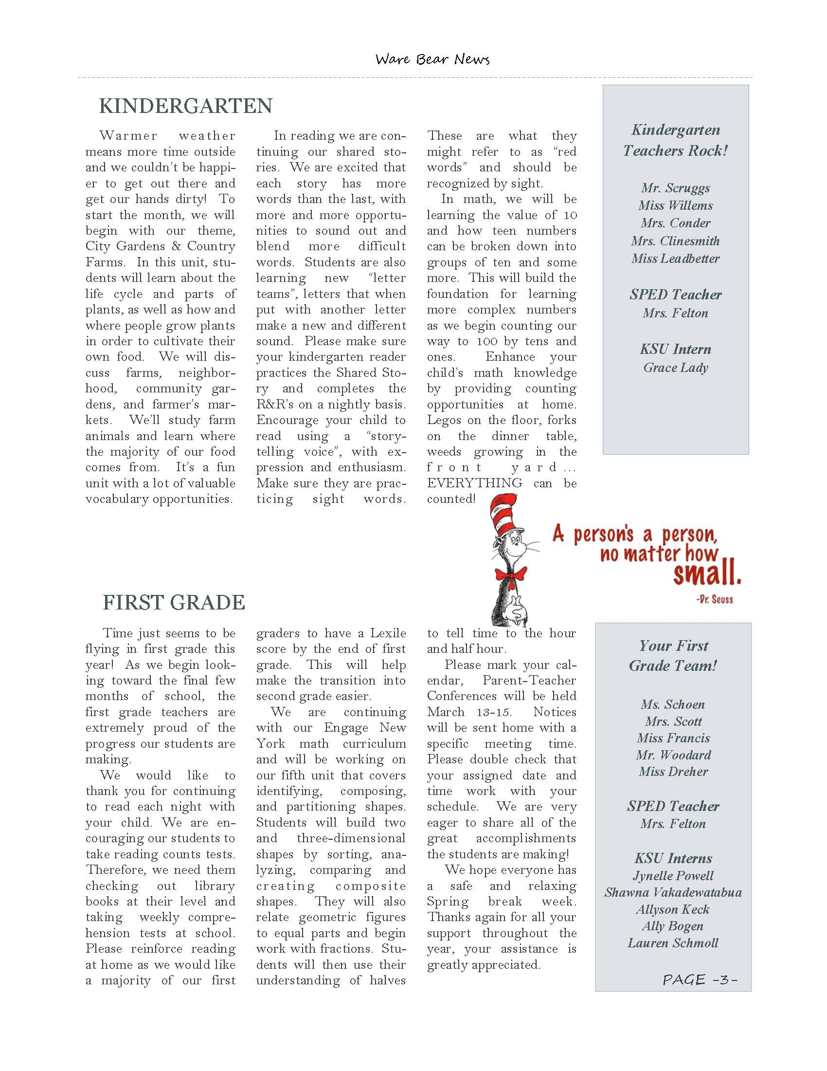 March eNewsletter Page 3