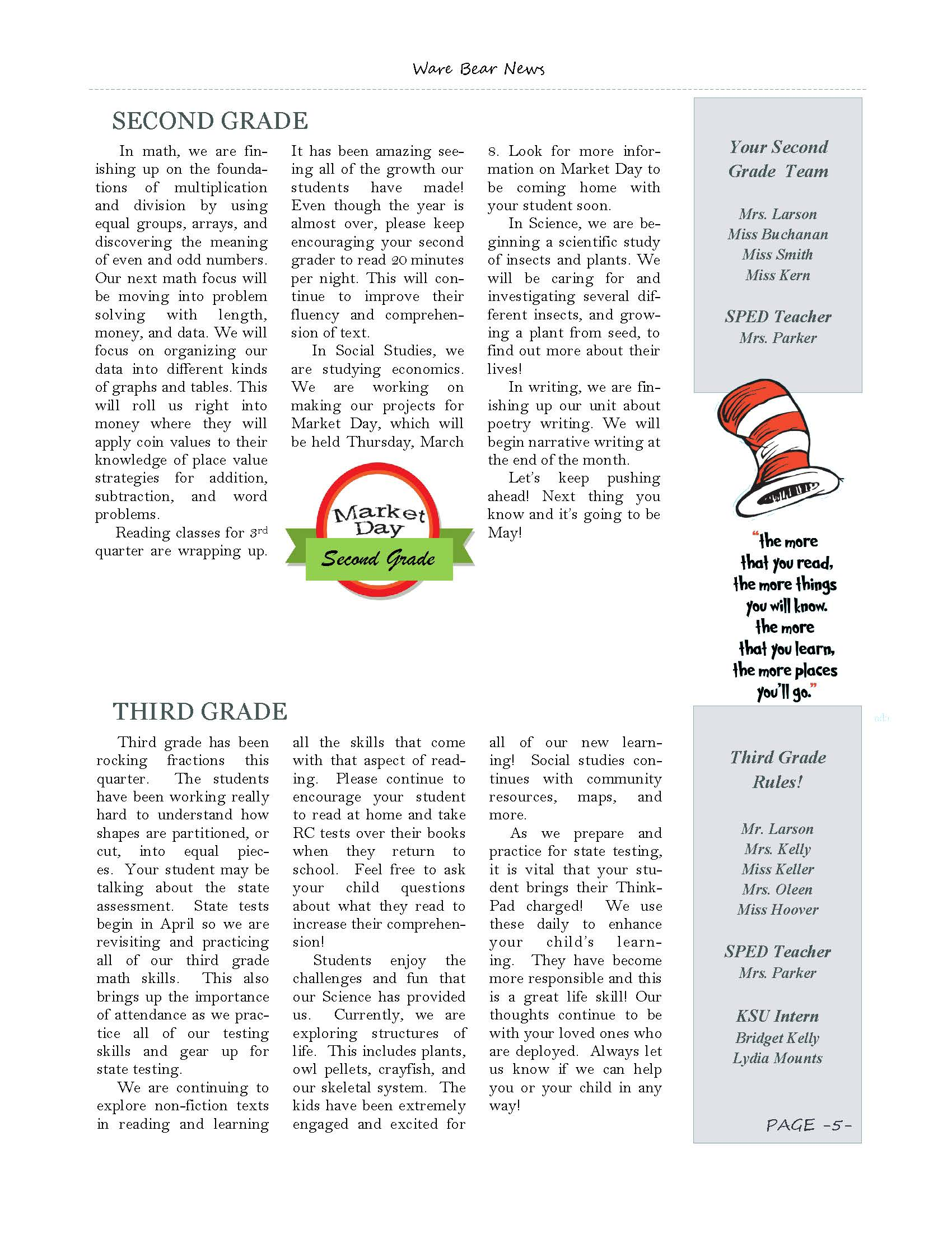 March eNewsletter Page 5