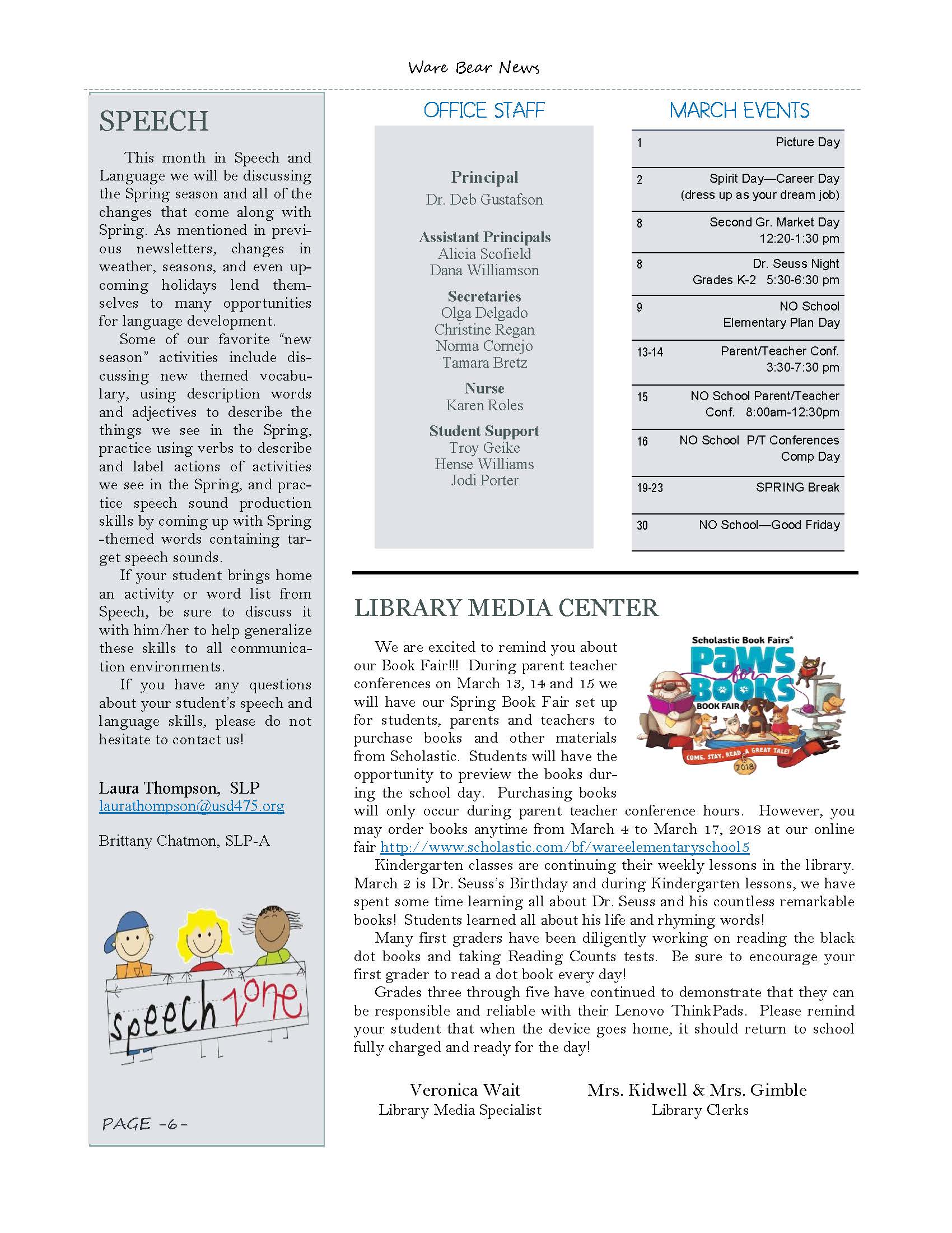 March eNewsletter Page 6