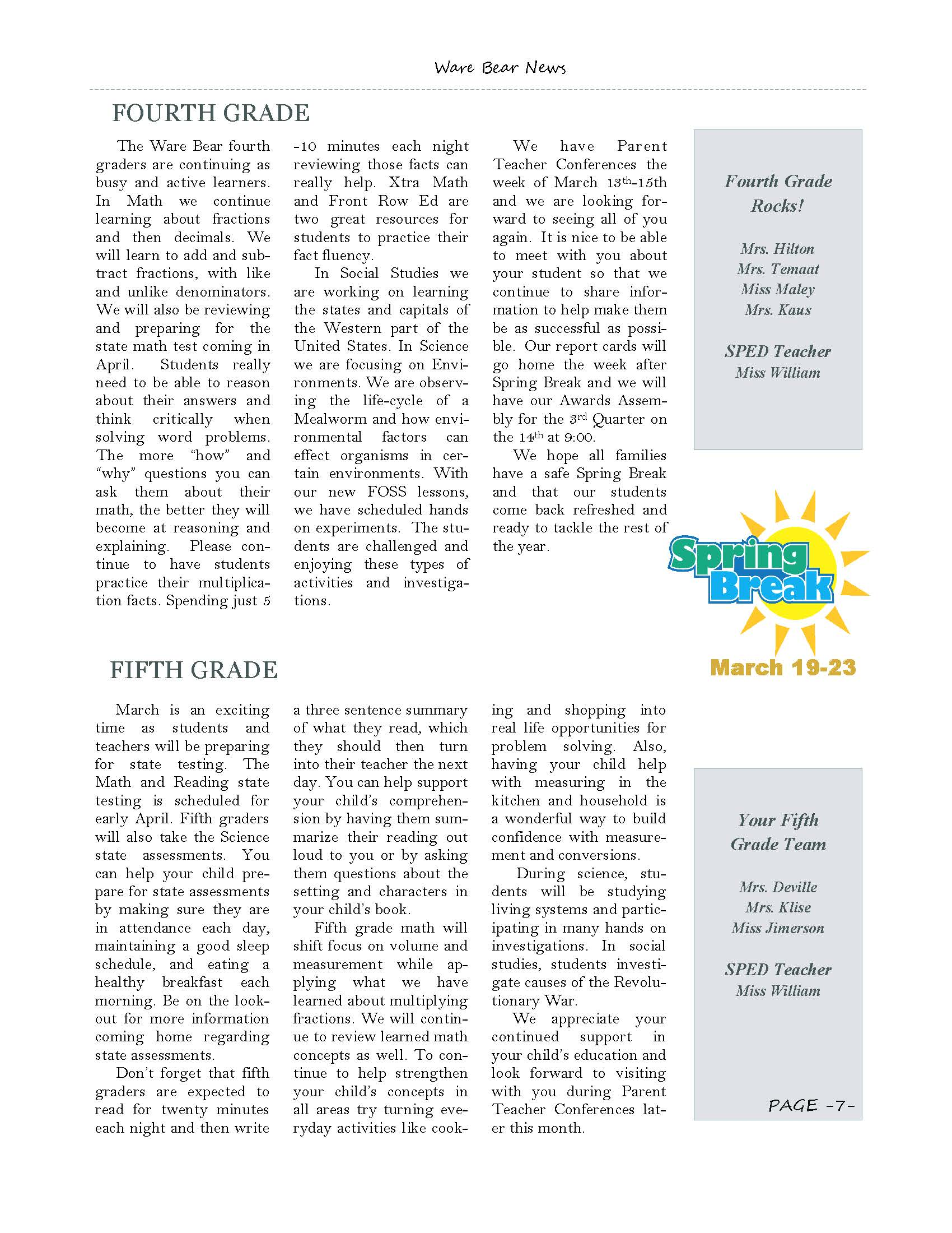 March eNewsletter Page 7