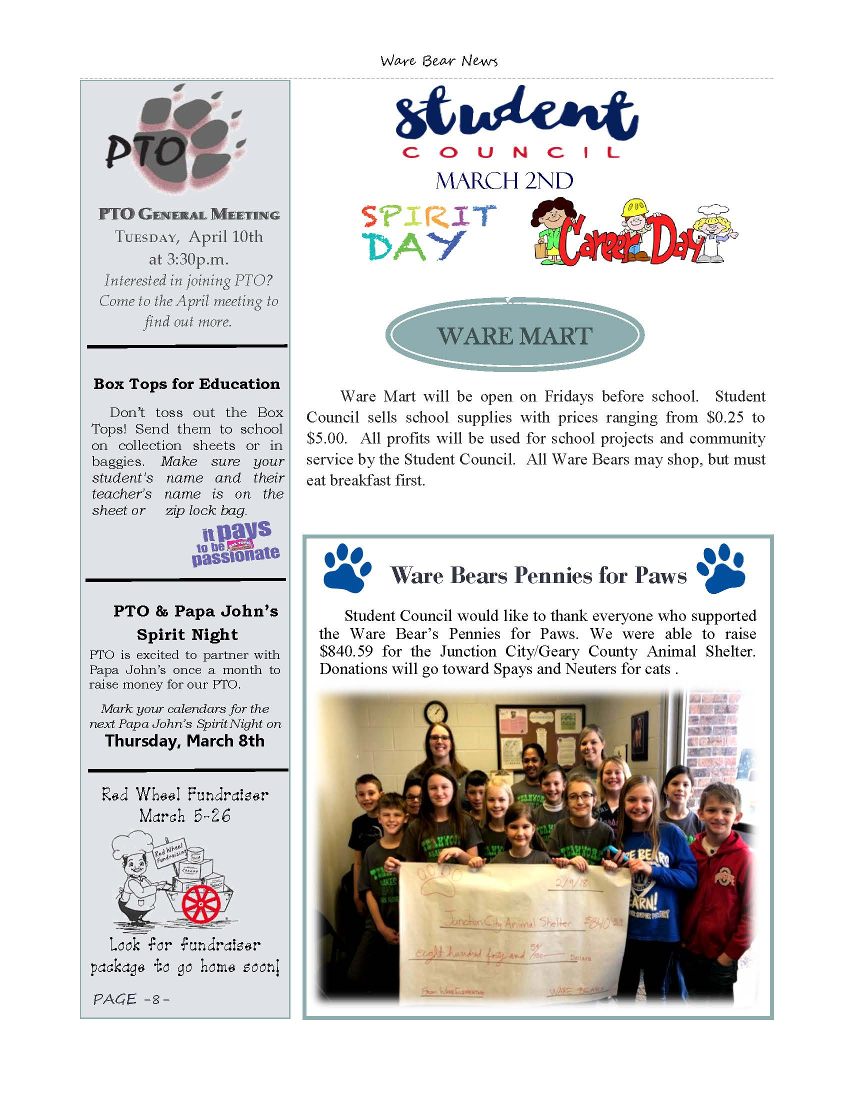 March eNewsletter Page 8