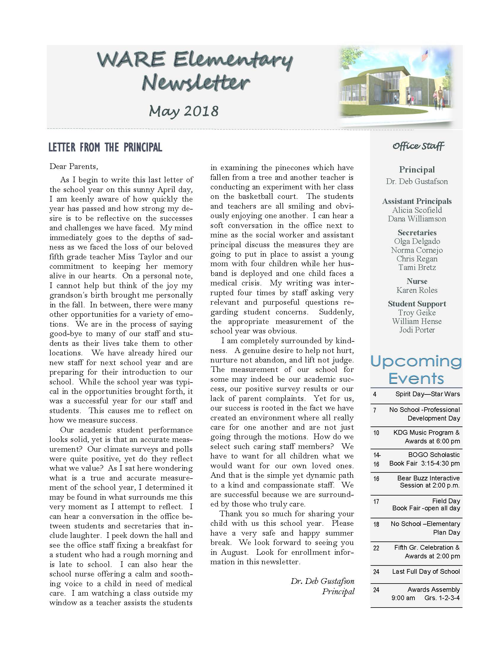 May eNewsletter Page 1