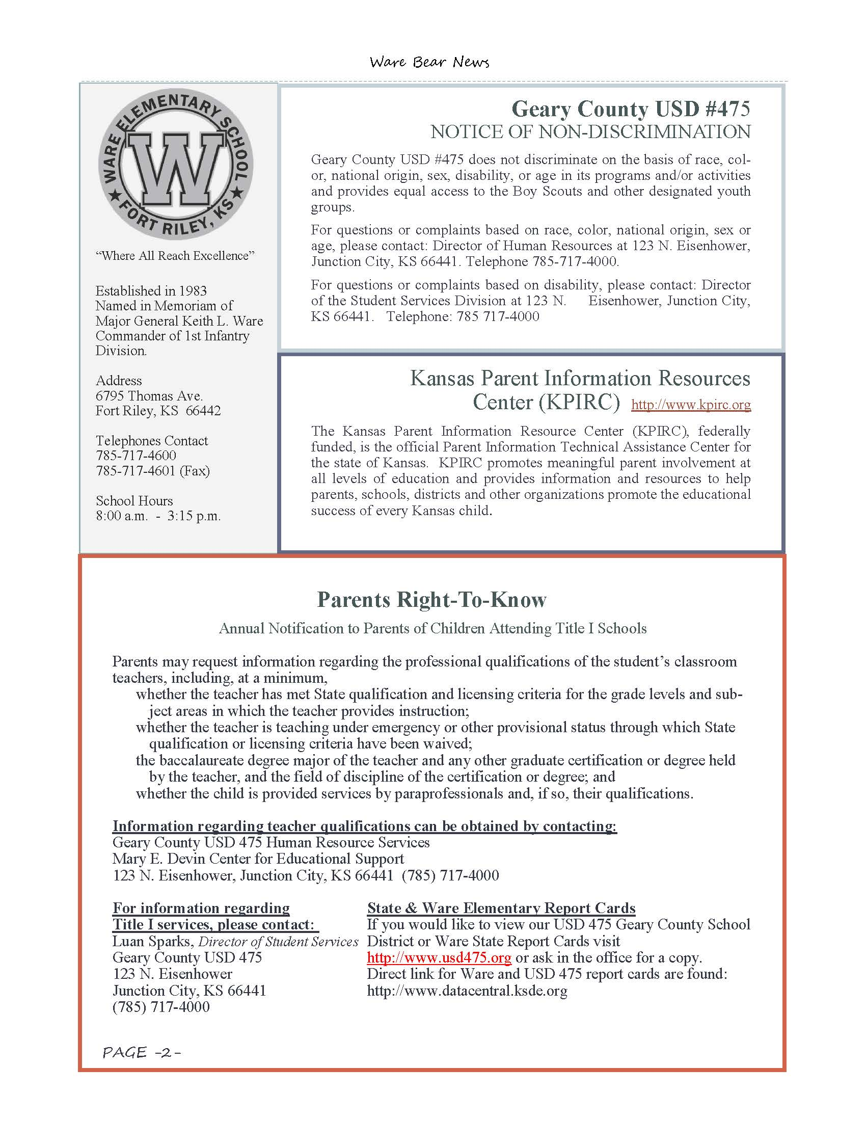 May eNewsletter Page 2