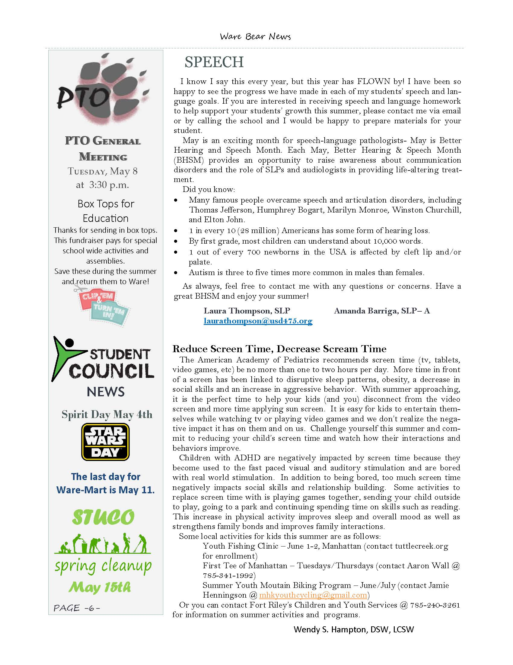May eNewsletter Page 6