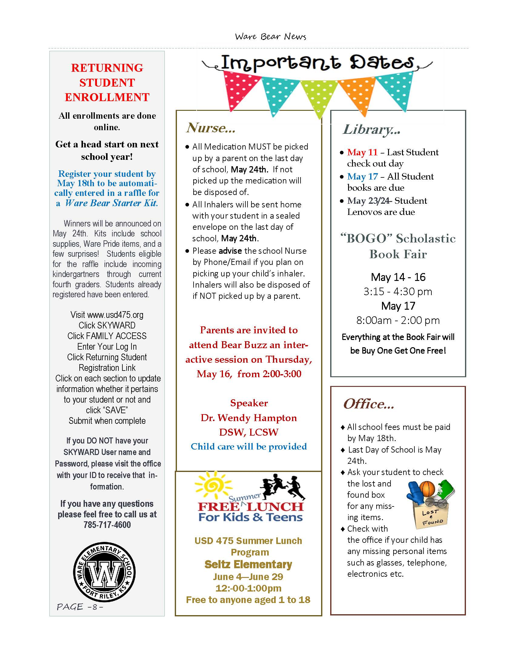 May eNewsletter Page 8