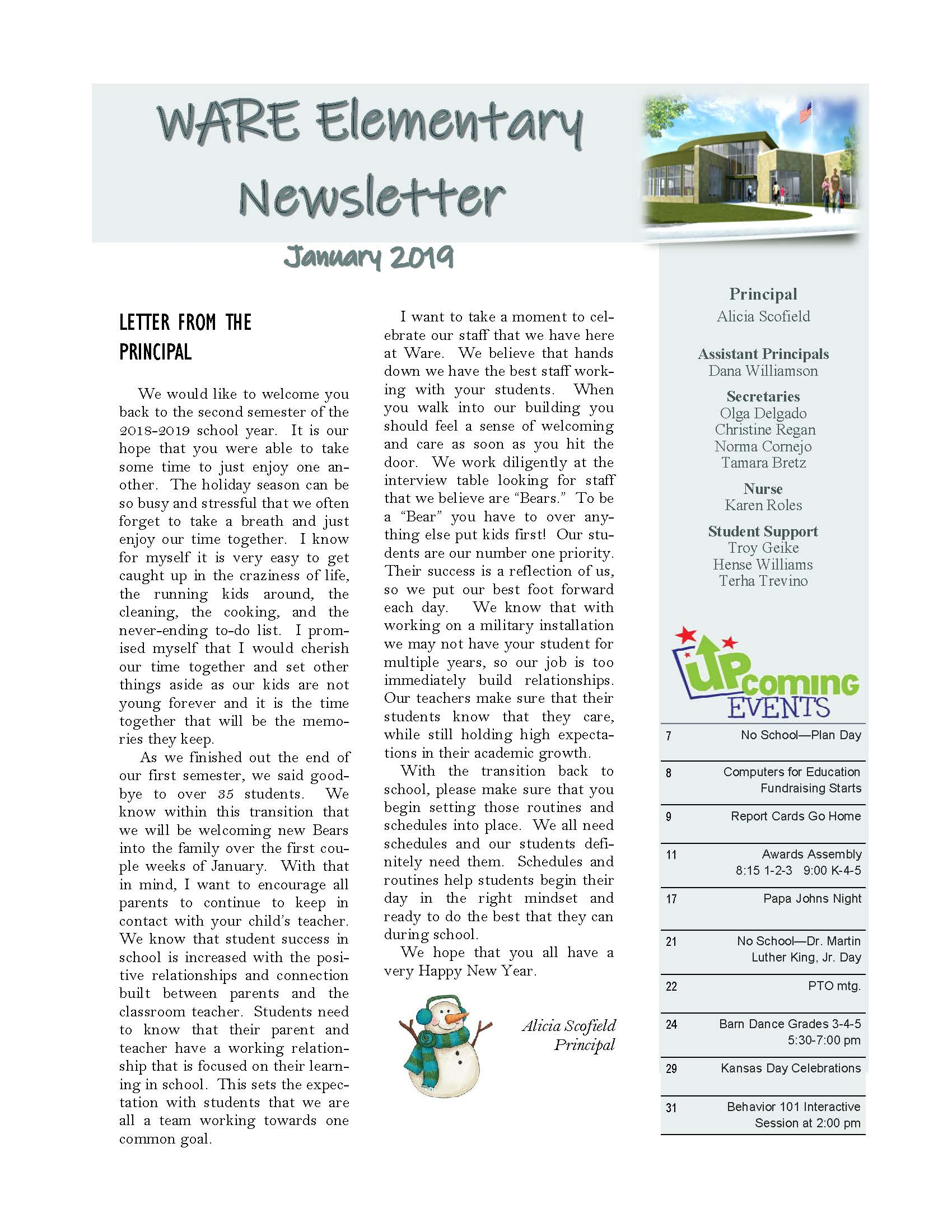 January eNewsletter Page 1