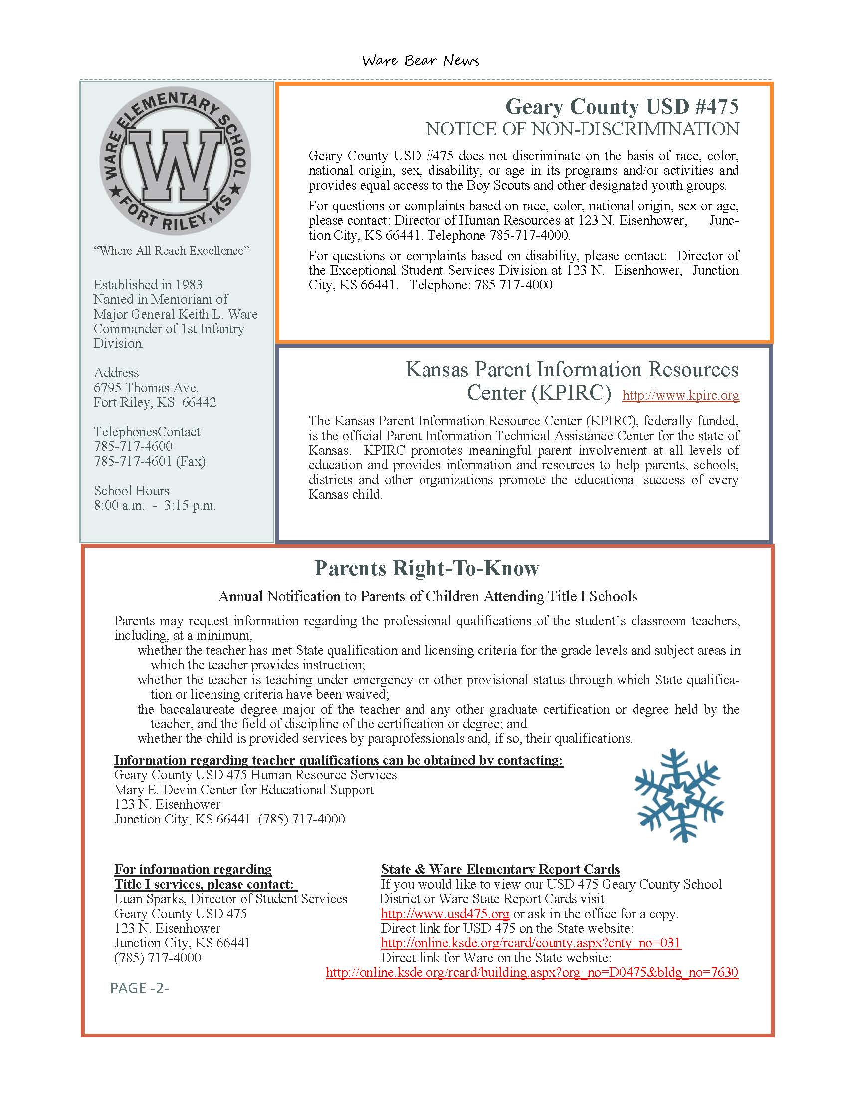 January eNewsletter Page 2