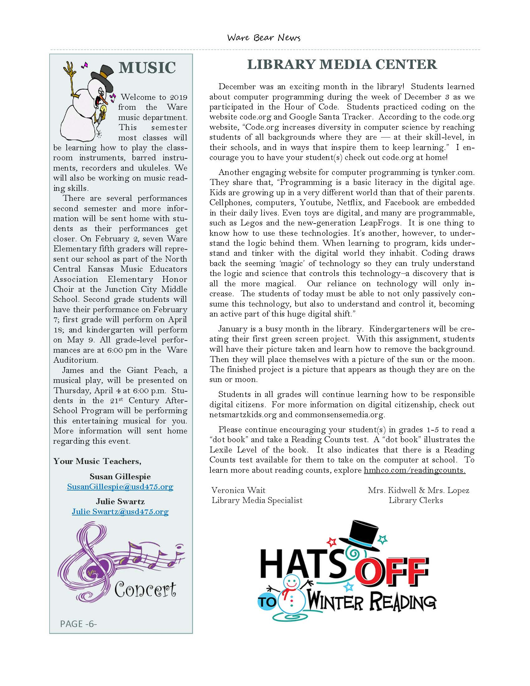 January eNewsletter Page 6