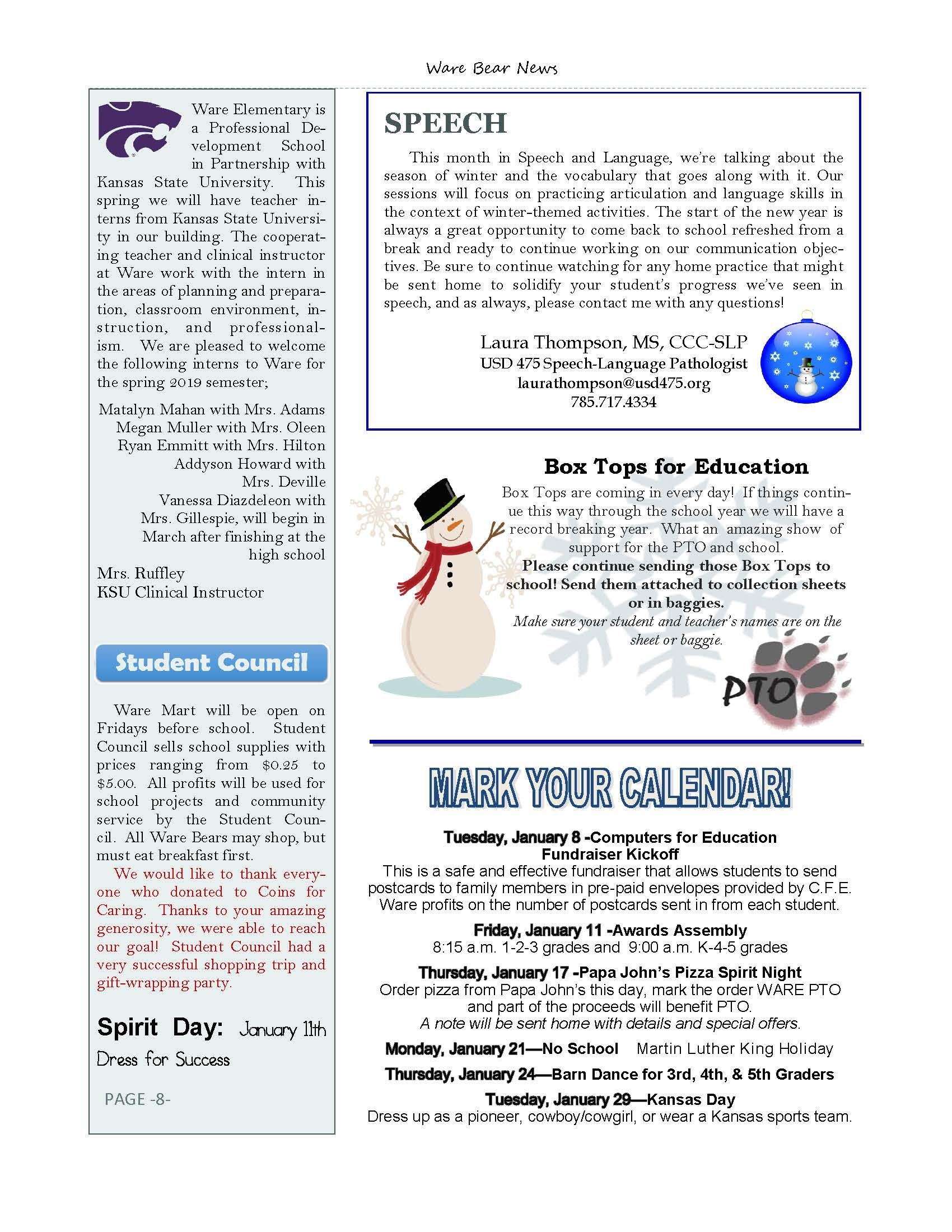 January eNewsletter Page 8