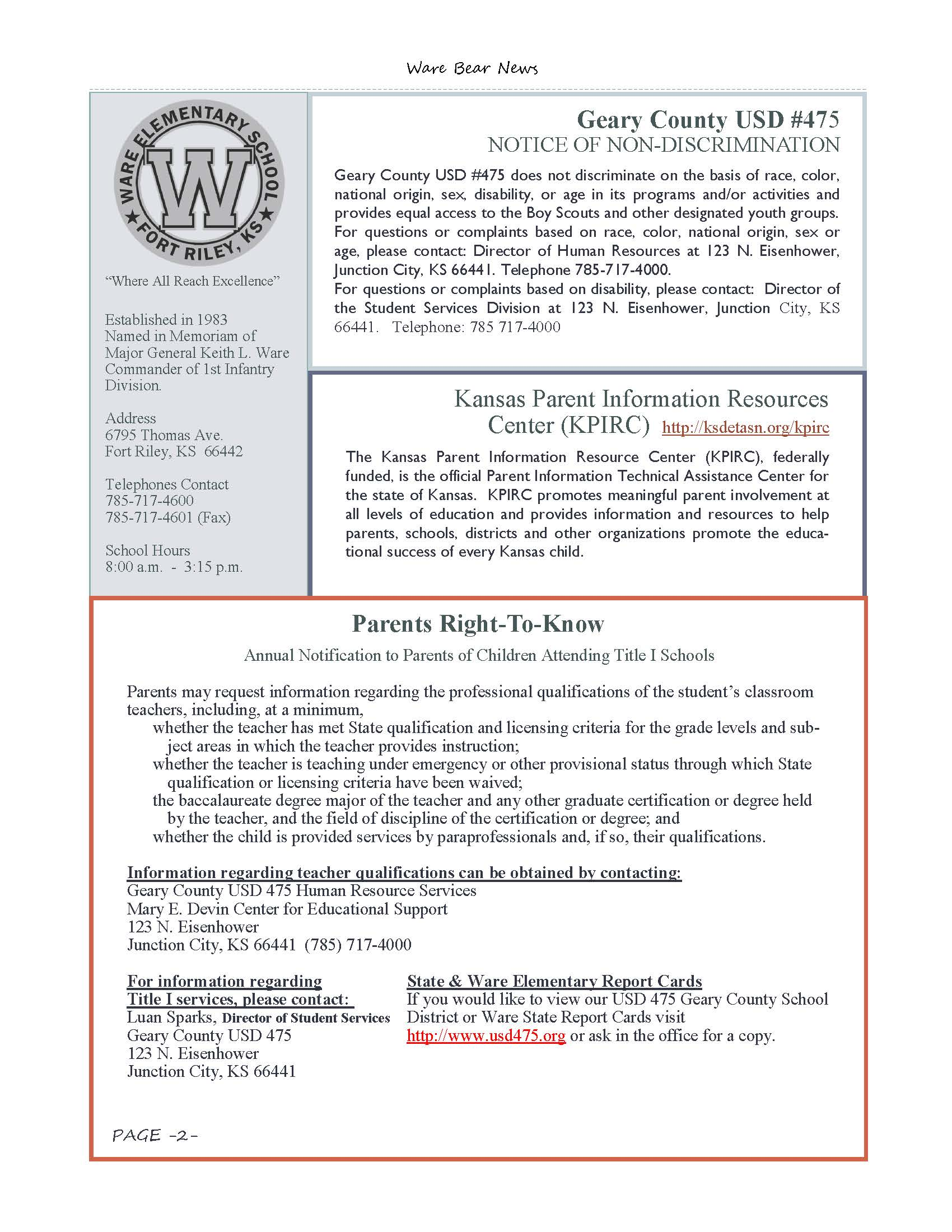 March eNewsletter Page 02